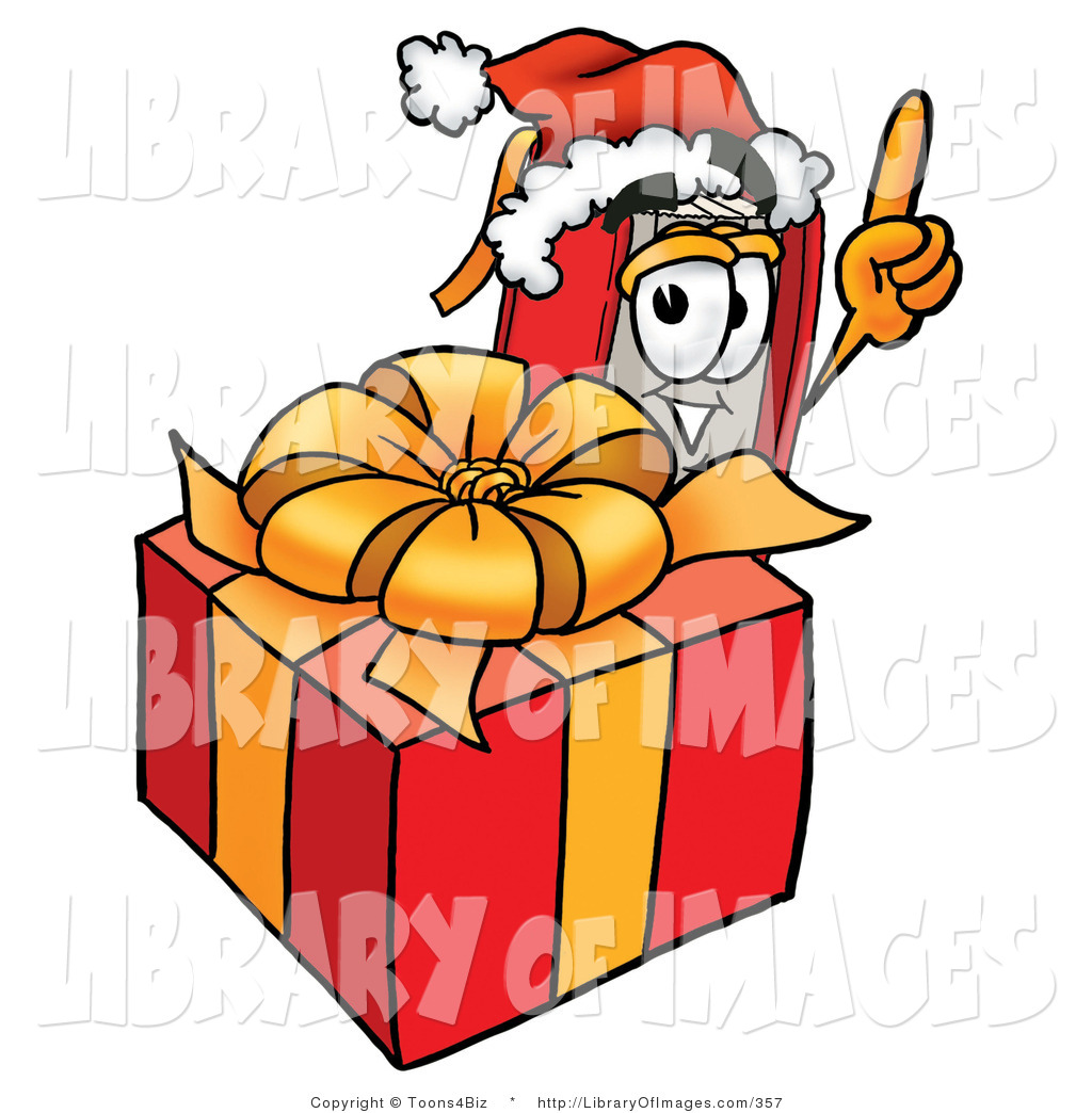 1024x1044 Clip Art Of A Christmassy Red Book Mascot Cartoon Character