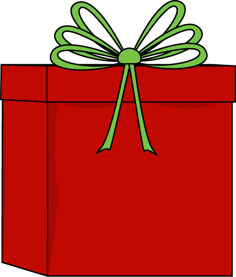 460x539 Cute Christmas Present Clipart
