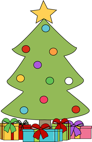 323x500 Christmas Tree With Gifts Clip Art