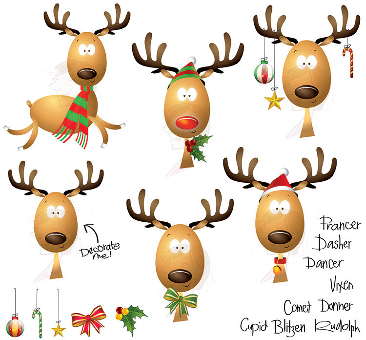 christmas reindeer clipart at getdrawings com free for personal rh getdrawings com cute reindeer clipart black and white cute santa and reindeer clipart