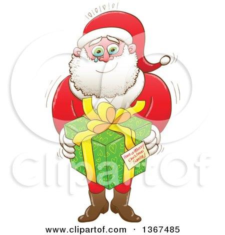 450x470 Clipart Of Christmas Scene Of Santand Crew Riding Dragon,