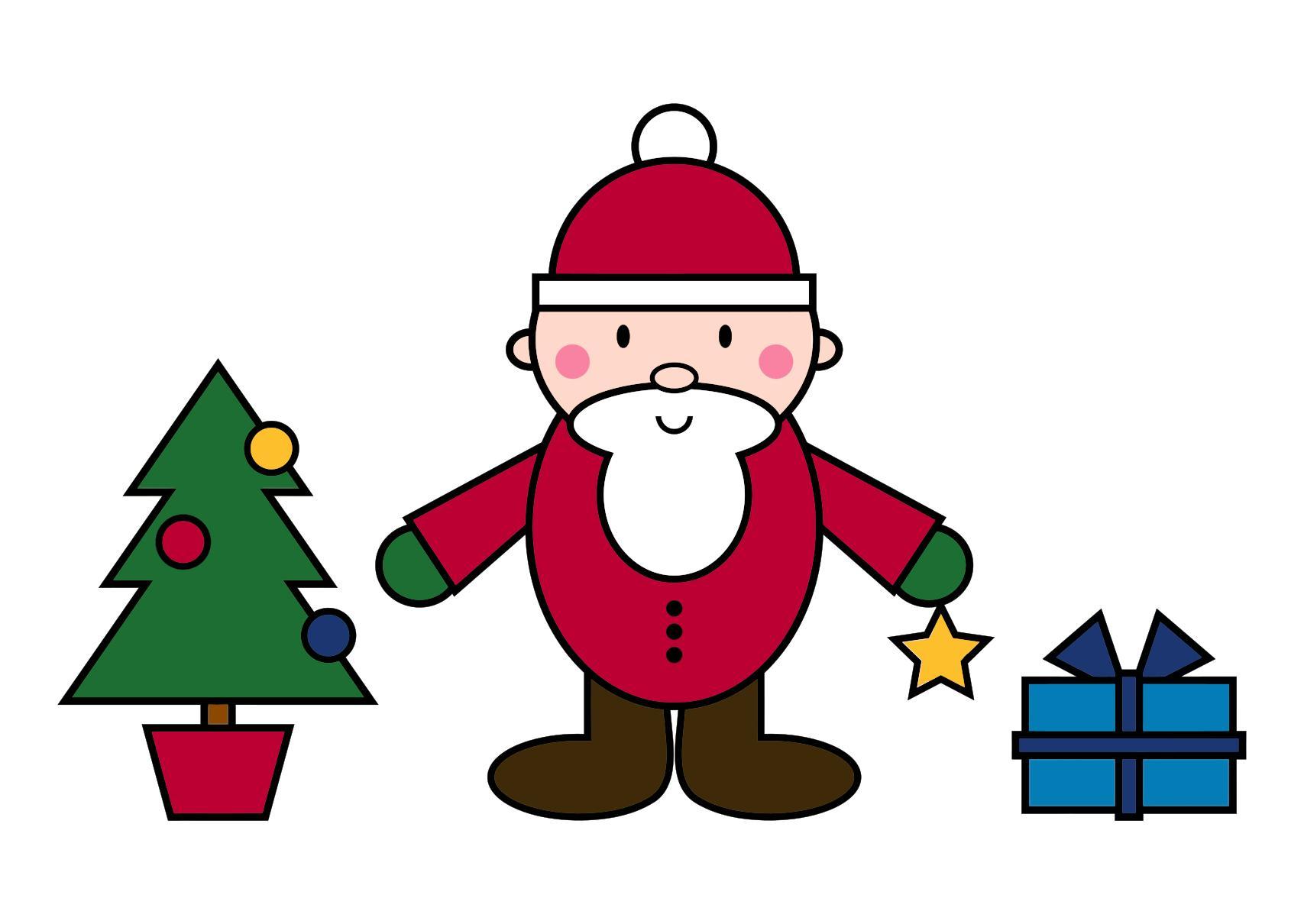 1707x1210 Simple Santa Claus Christmas Scene Clipart
