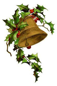 220x330 Vintage Christmas Clip Art Winter Scene Holly Frame The Border