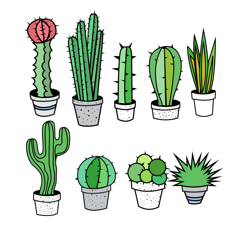 1500x1493 Cactus Clip Art Pictures Graphics
