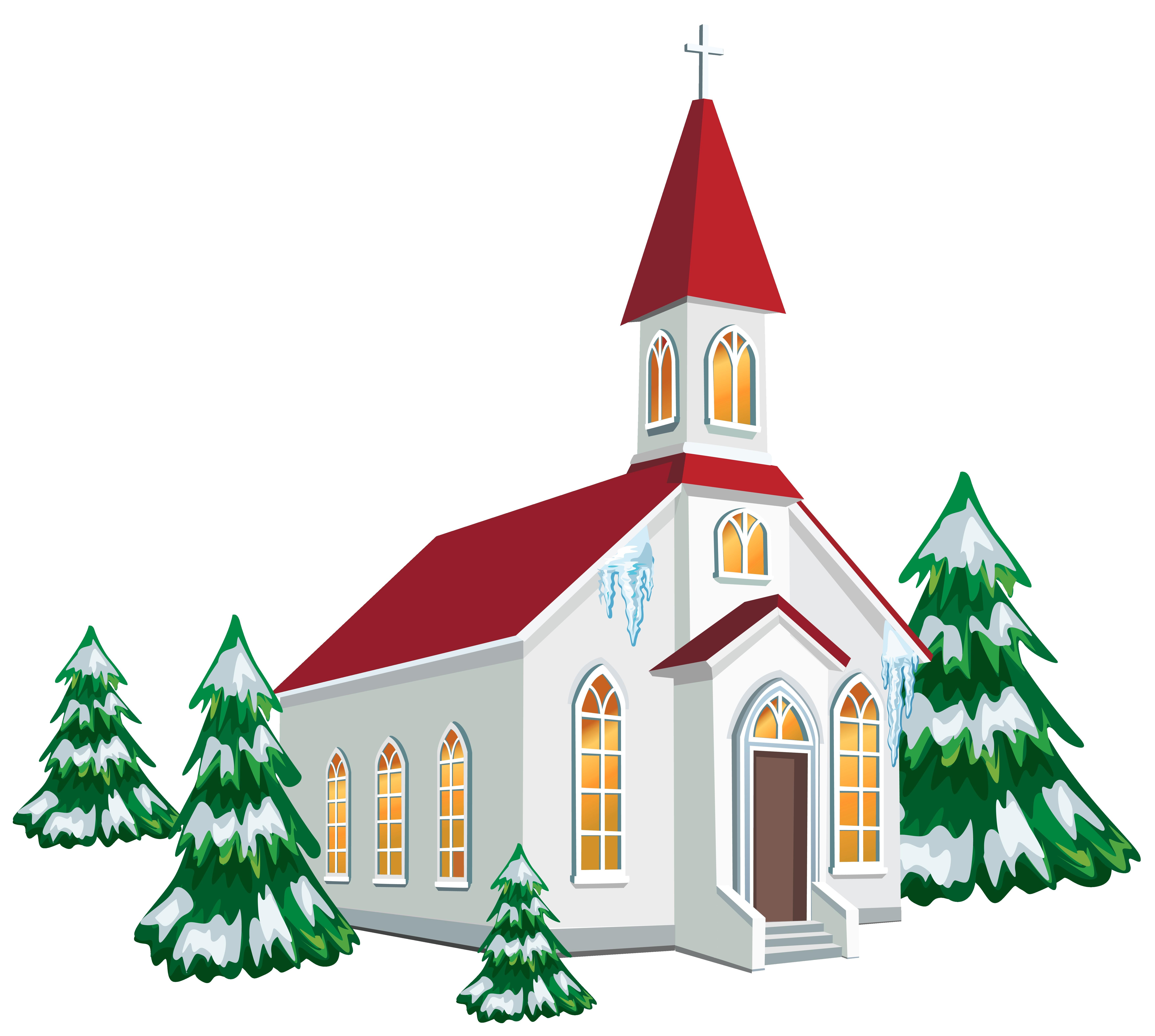 7025x6302 Christmas Winter Snow Scene Clip Art Free Clipart Fine