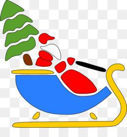 260x280 Santa Claus Sled Silhouette Reindeer Clip Art