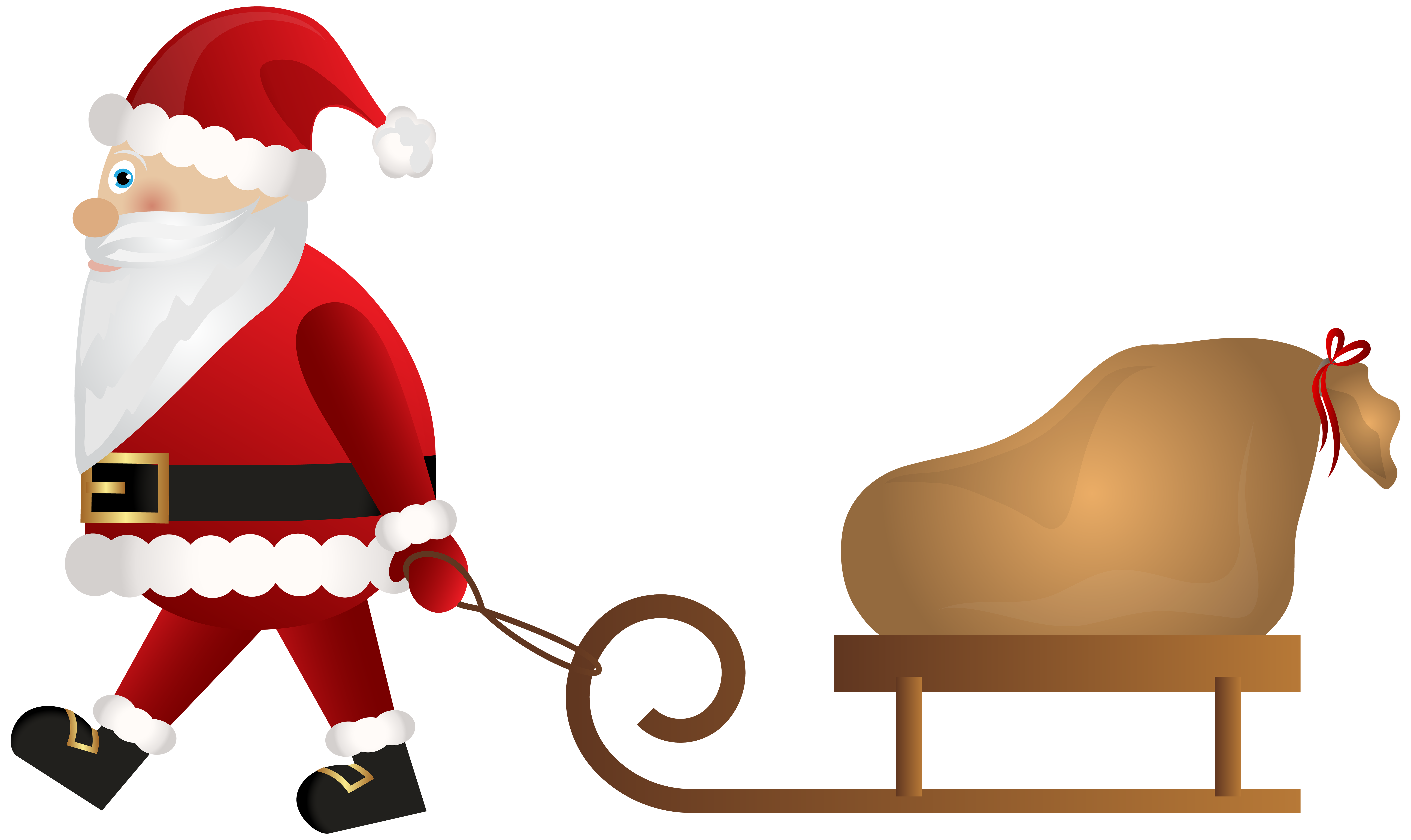 8000x4765 Santa Claus With Sleigh Png Clip Artu200b Gallery Yopriceville