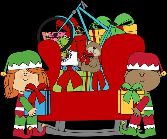 550x458 Santa Sled Cliparts
