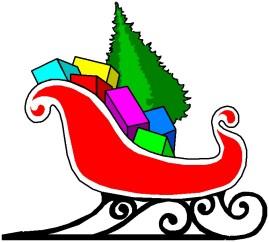 269x242 Santa Sleighs Clip Art