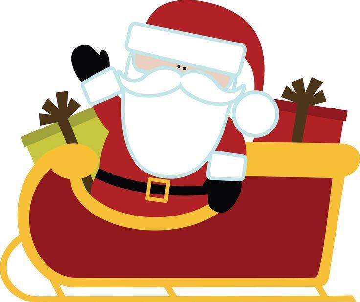 736x618 Christmas Santa And Sleigh Clip Art Clip Art
