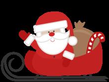 220x165 Christmas Sleigh Clipart Santa Sleigh Santa Riding His Sleigh