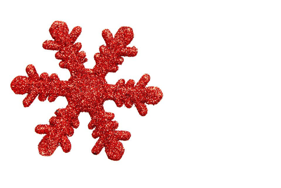 958x639 Red Snowflake Ornament