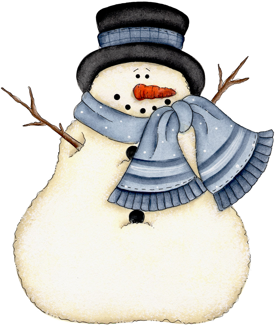 944x1117 Country Christmas Snowman Clipart Olivero
