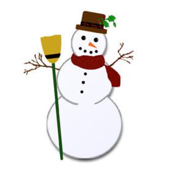 350x350 Free Christmas Snowman Clip Art Picture