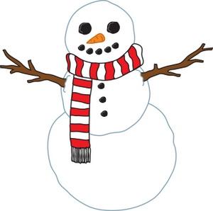 300x298 Free Snowman Clipart Image