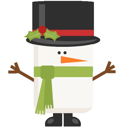 432x432 Funky Snowman Title Scrapbook Clip Art Christmas Cut Outs