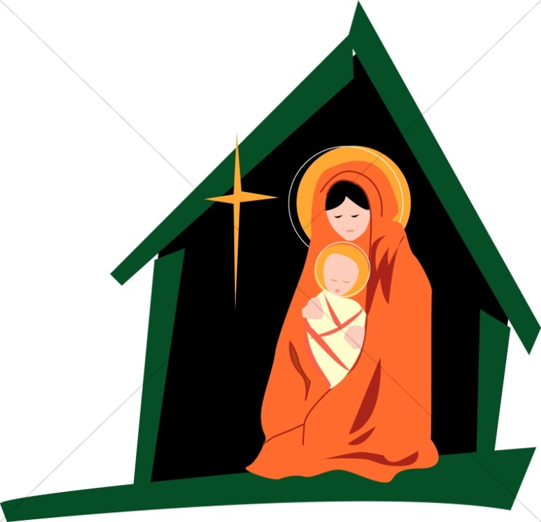 776x748 Mary In The Stable Virgin Mary Clipart