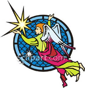 290x300 Christmas Stained Glass Clip Art Stained Glass Christmas Angel