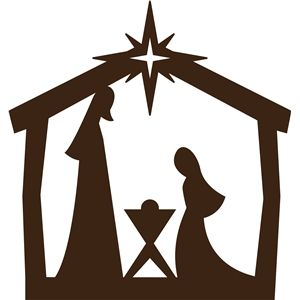 300x300 For Nativity Stained Glass Vinyl Nativity