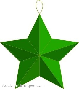 267x300 Clip Art of a Star Christmas Ornament