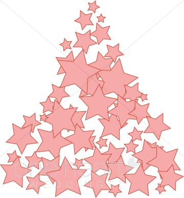 360x388 Pink Christmas Tree Clipart