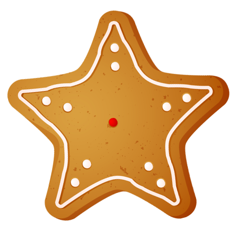 466x466 Transparent Christmas Star Cookie Png Clipartu200b Gallery