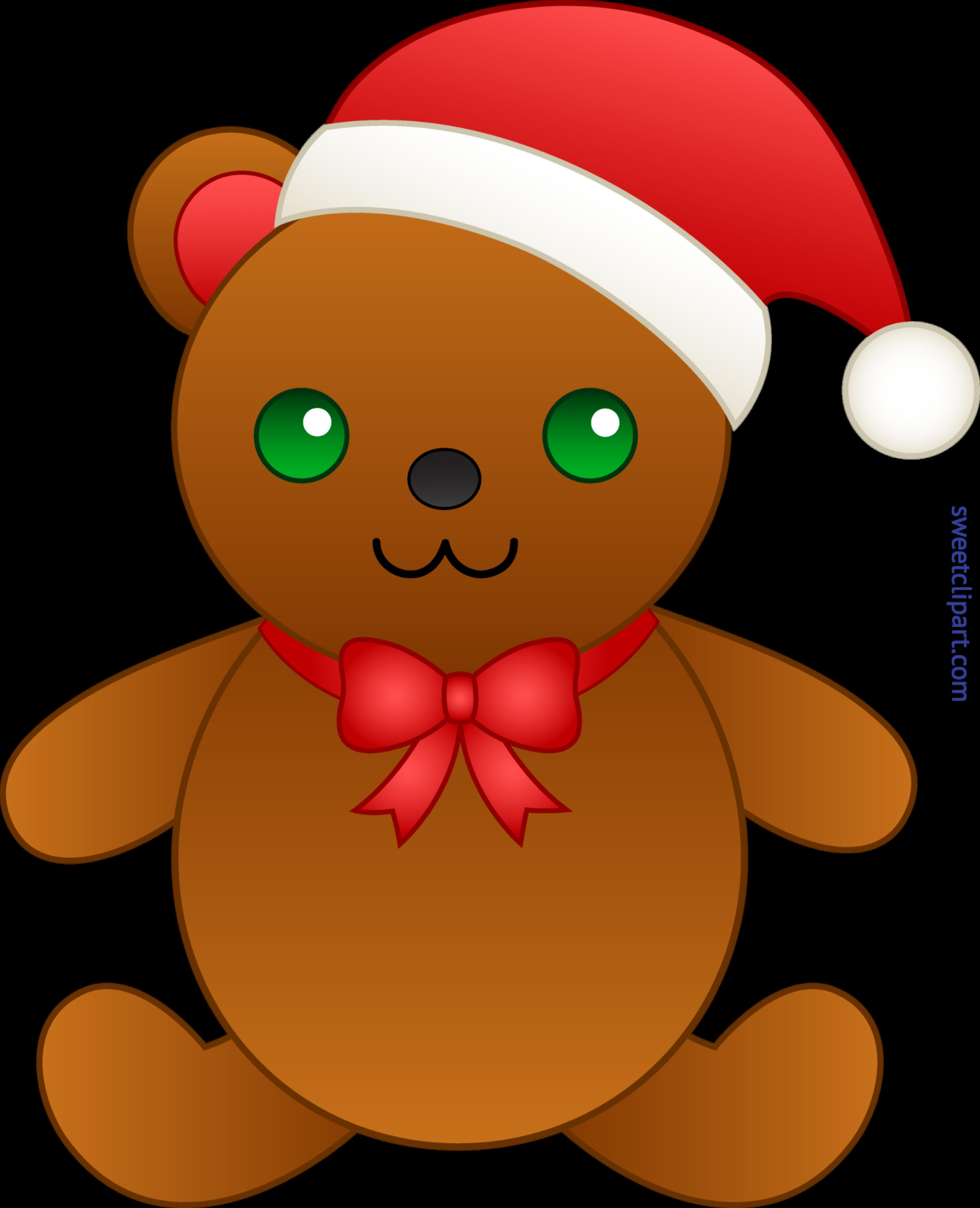 4147x5110 Cute Christmas Teddy Bear Clip Art