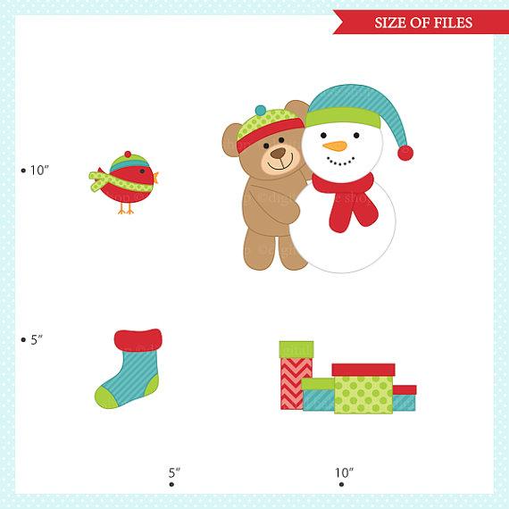 570x570 Christmas Bears Clipart Clip Art Digital