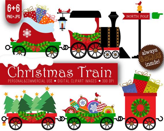 570x456 Christmas Train Printables