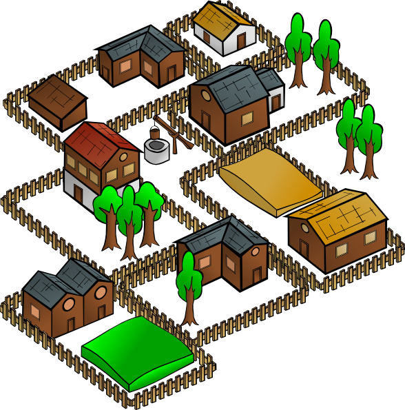 588x595 Collection Of Village Clipart Png High Quality, Free
