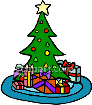307x350 Christmas Tree With Presents Clipart Clipart Panda