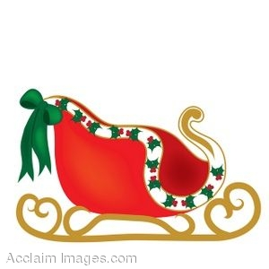 300x300 Santa S Sleigh Filled With Christmas Toys And Presents Vectors