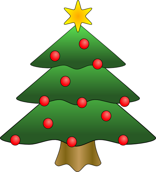 540x595 View Woods Christmas Tree Clip Art