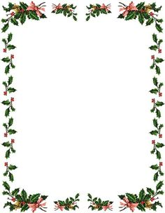 236x304 Free Christmas Letter Borders Holly Ivy Border