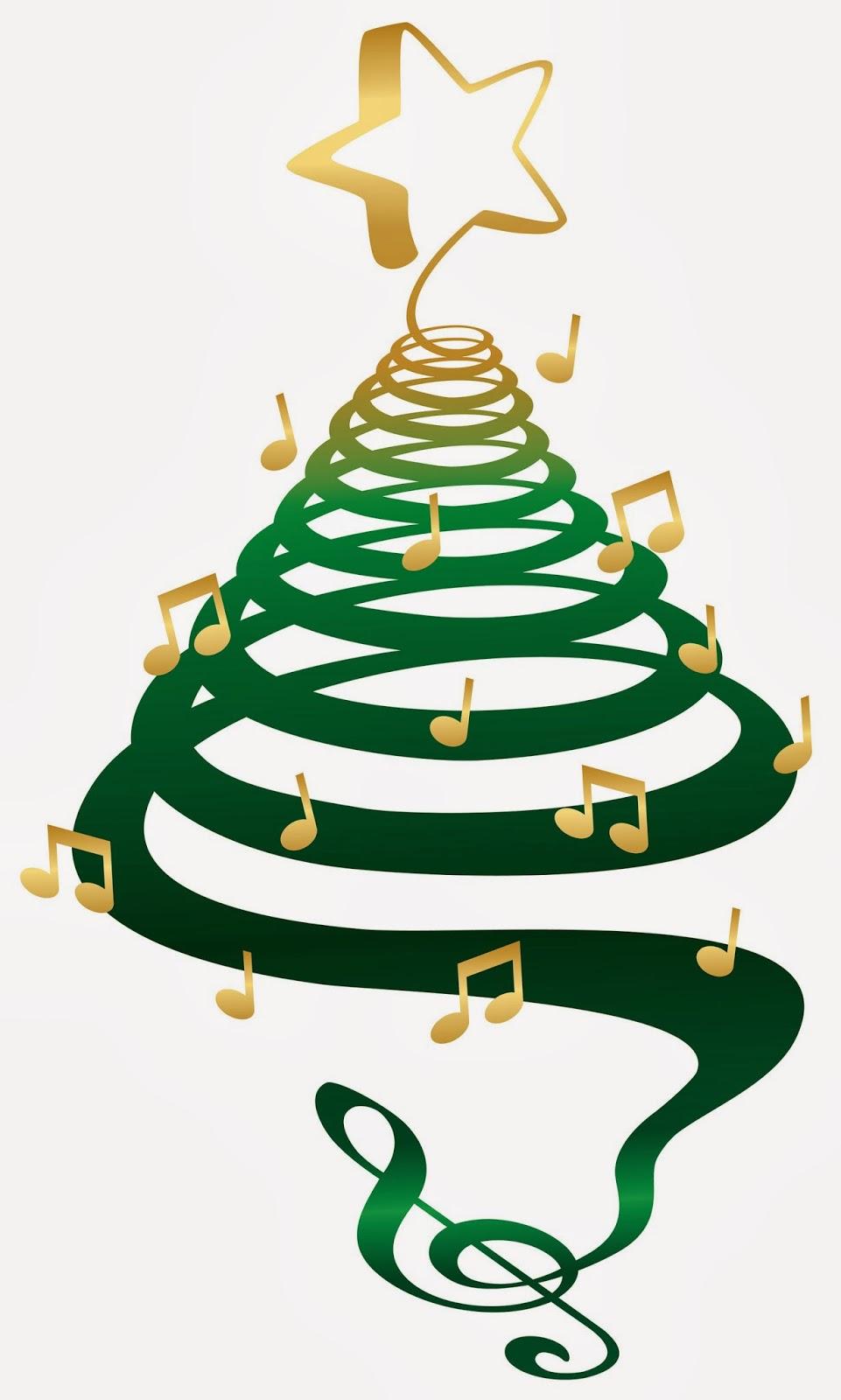 961x1600 Music Border Clip Art Christmas Tree Clipart
