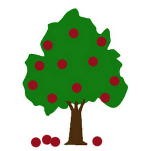 300x300 Apple Tree Clipart