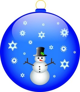 263x300 Christmas Tree Ornament Clipart Free