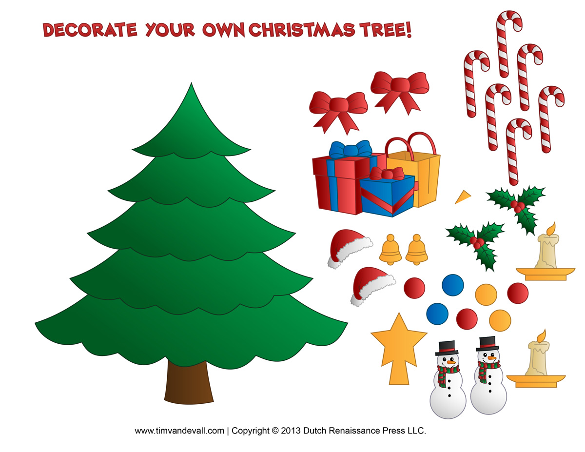 photo about Christmas Printable Decorations known as Xmas Tree Decorations Clipart at  Absolutely free