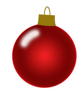 272x300 Free Christmas Clipart Picture Of A Shiny Red Christmas Tree Ornament