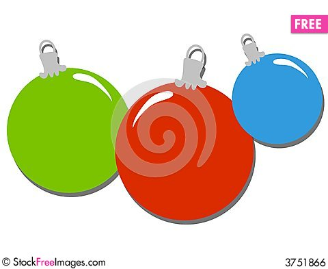 480x393 Simple Christmas Ornaments Clip Art