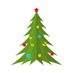 150x150 Christmas Tree Balls And Decoration Royalty Free Vector Clip Art
