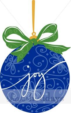 244x388 Joy Christmas Tree Ornament Blue Christmas Ornament Clipart