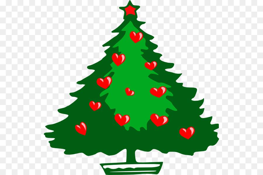 900x600 Santa Claus Christmas Tree Clip Art