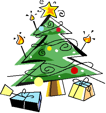 Christmas Tree With Presents Clipart