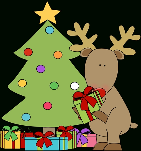 466x500 Christmas Tree With Presents Clipart