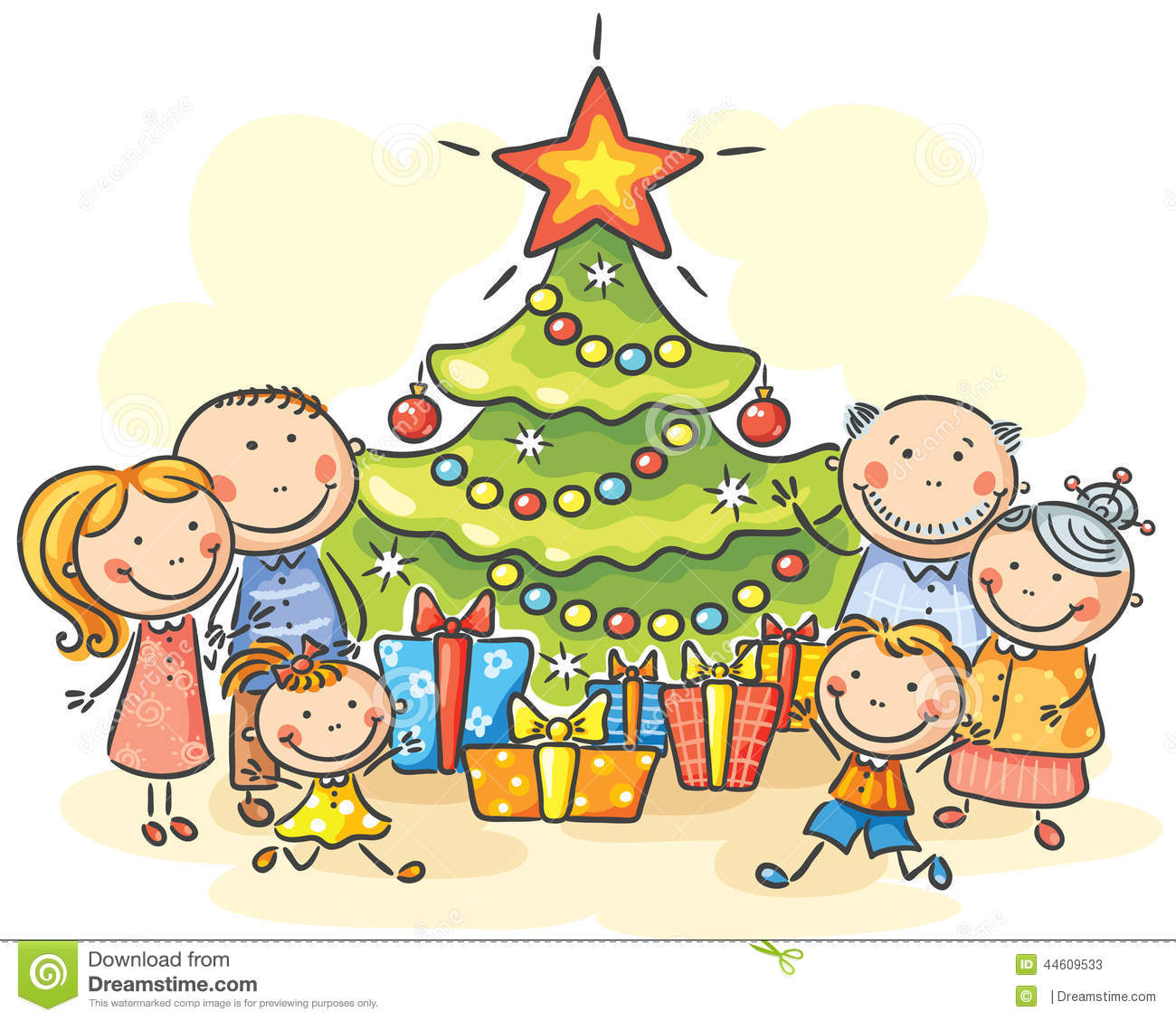 Christmas Tree With Presents Clipart at GetDrawings | Free ...