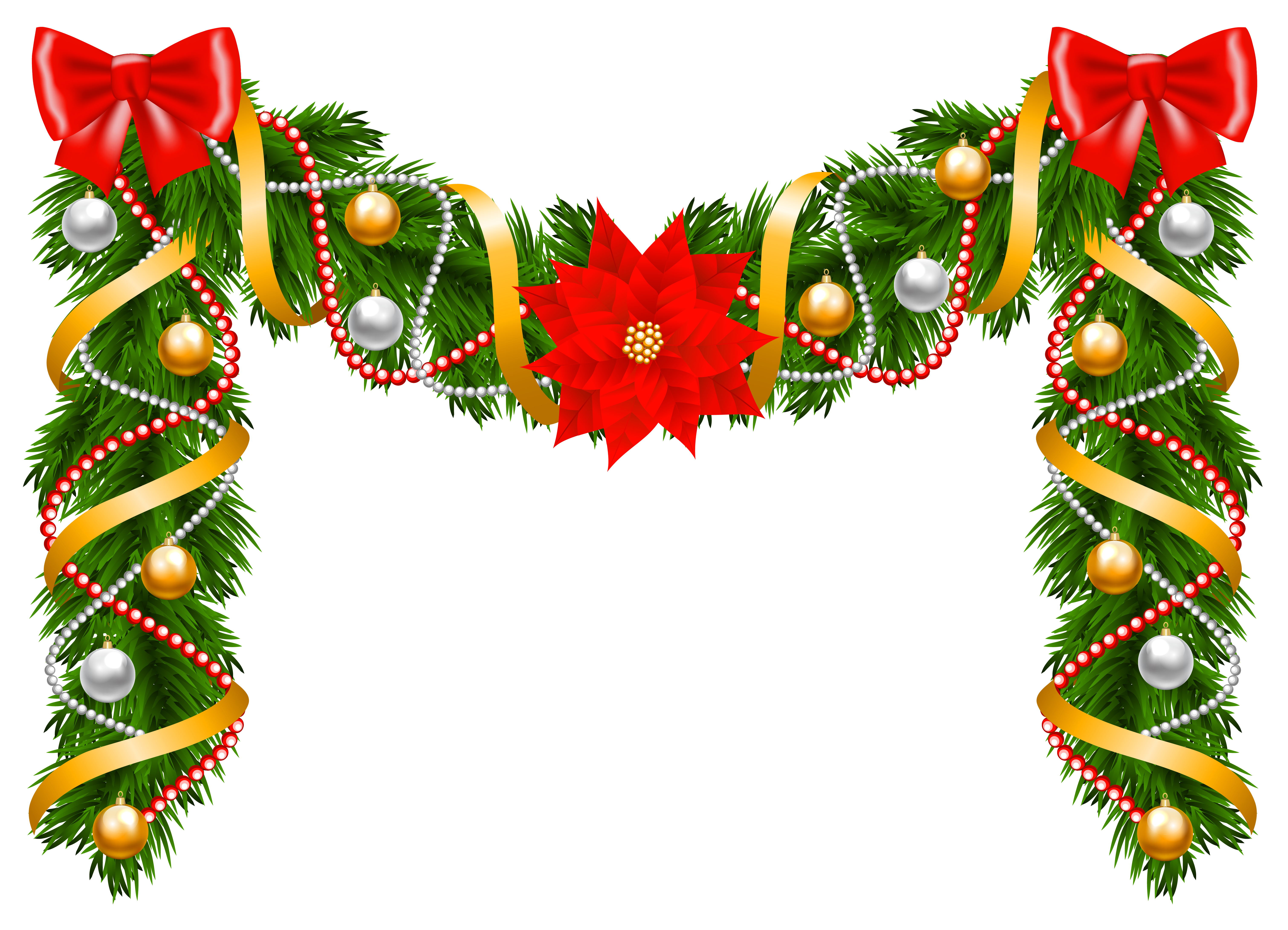 6043x4362 Christmas Garland Clip Art – Merry Christmas And Happy New Year 2018