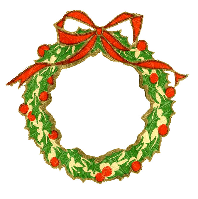 675x676 Free Christmas Wreath Clipart