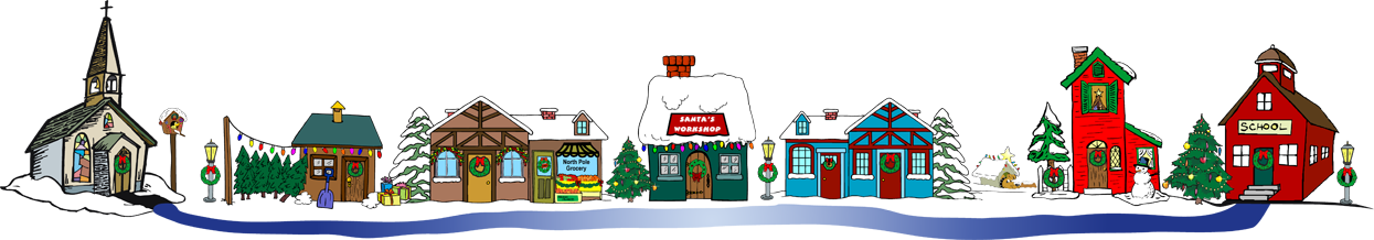1245x218 Santa Claus Christmas Village Clip Art