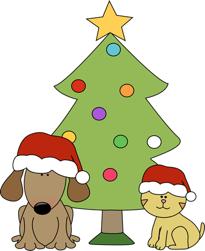 409x500 Cat Christmas Funny Clipart